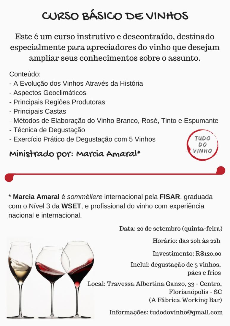 Curso Básico de Vinhos em Florianópolis