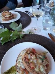 Viagem de Estudo_Brusqueta Caprese, com o vinho rosé Villaggio Bassetti 2016