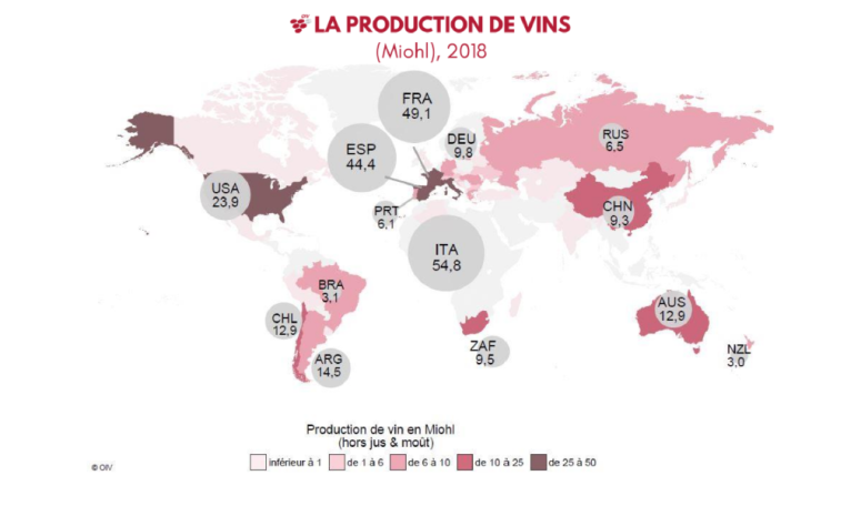 Mapa produção mundial 2018